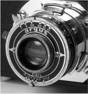 photo of Argus A2B 35mm camera